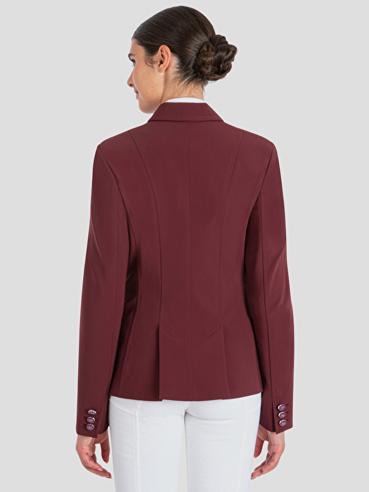 BURGUNDY COMPETITION JACKET WITH ENAMELED BUTTONS